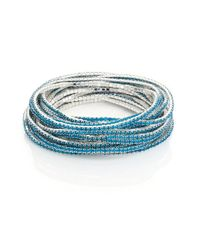 ABS By Allen Schwartz - Blue Pop Of Color Faceted Stretch Bracelets/set Of 20 - Lyst