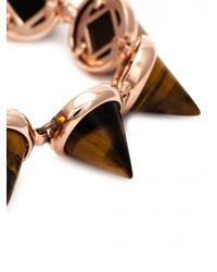 Eddie Borgo Pink Gemstone Cone Bracelet