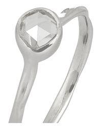 Monica Vinader Metallic Siren Sterling Silver Topaz Ring