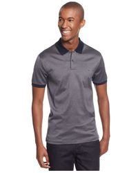 Michael Kors | Blue Iridescent Micro-striped Polo for Men | Lyst