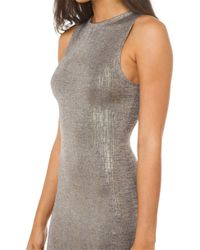 AKIRA | Metallic In Case You Forgot Gold Dress - Gold | Lyst
