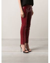 Barbara Bui Red Leather Trouser