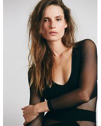 Free People | Black Seamless Cut Out Top | Lyst