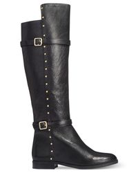 INC International Concepts Black Ameliee Wide Calf Riding Boots, Only At Macy's