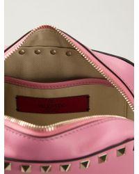 Valentino Pink Rockstud Calf-leather Cross-body Bag