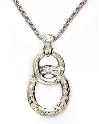 Effy Metallic Classique 14k White Gold And Diamond Pendant Necklace