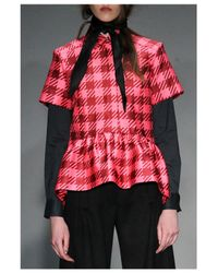House of Holland | Gingham Pink Shirt | Lyst