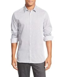 Ted Baker - White 'scatman' Print Extra Trim Fit Sport Shirt for Men - Lyst