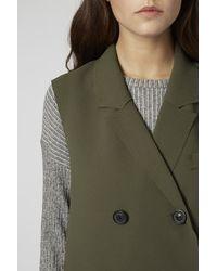 TOPSHOP Natural Premium Sleeveless Jacket