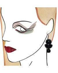 Marion Vidal | Black Trio Earrings | Lyst