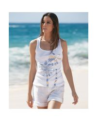 INC International Concepts - White Scoop Neck Sequined Tank Top - Lyst