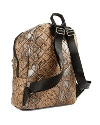 Steve Madden Natural Diamond Quilted Backpack