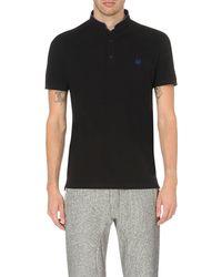 The Kooples Sport | Black Branded Cotton-piqué Polo Shirt for Men | Lyst