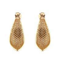 Elise Dray | Metallic Diamond & Yellow-Gold Pétales Earrings | Lyst