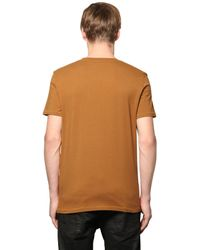 Just Cavalli - Brown Tribal Skull Printed Cotton T-shirt for Men - Lyst