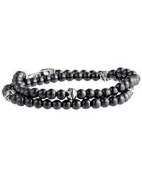 Stephen Webster | Gray Thorn Double Wrap Beaded Bracelet for Men | Lyst