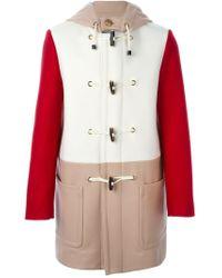 Ports 1961 - White Colour Block Duffle Coat - Lyst