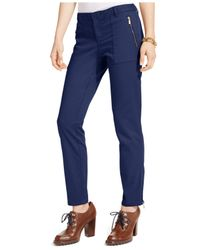Tommy Hilfiger | Blue Zip-pocket Utility Pants | Lyst