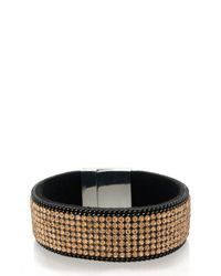 Oasis | Black Crystal Rocks Magnetic Wristwear | Lyst