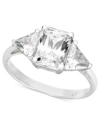 Arabella | White Swarovski Zirconia Engagement Ring (3-7/8 Ct. T.W.) | Lyst