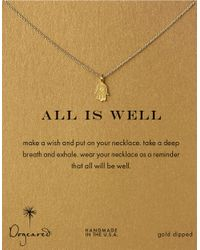 Dogeared | Metallic 'all Is Well' Necklace | Lyst