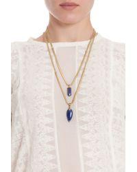 Isabel Marant - Blue Saul Arrow Drop Necklace - Lyst
