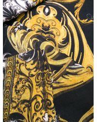 Roberto Cavalli - Black Baroque Print Scarf - Lyst