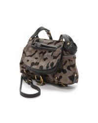 Jérôme Dreyfuss Gray Haircalf Twee Mini Bag - Grey Leopard