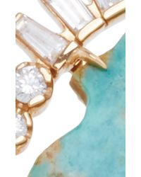 Jordan Alexander | Blue Mo Exclusive: One Of A Kind 18k Rose Gold Diamond And Turquoise Ring | Lyst