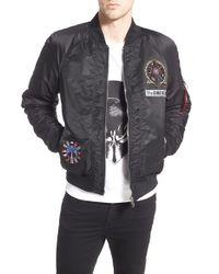 ELEVEN PARIS - Black 'mosnote' Bomber Jacket for Men - Lyst