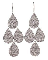 Irene Neuwirth | White Four Drop Diamond Earrings | Lyst