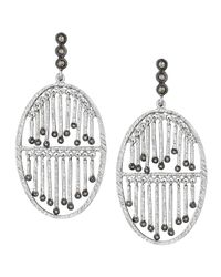 Coomi | Metallic Spring Silver Double-stick Diamond Earrings | Lyst