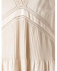 Vanessa Bruno - Natural V-Neck Flared Dress - Lyst
