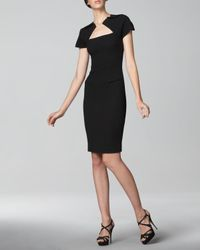 Roland Mouret | Black Myrtha Wool-crepe Dress | Lyst