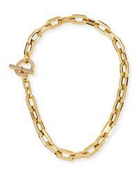 Michael Kors Metallic Cityscape Link Toggle Necklace