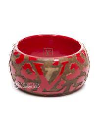 Louis Vuitton - Red Preowned Leo Monogram Wood Bangle Bracelet - Lyst