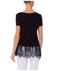 Basler Black Lace Top
