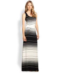 Young Fabulous & Broke - Black Hamptons Striped Stretch Jersey Maxi Dress - Lyst