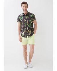 Forever 21 - Green Botanical Print Collared Shirt for Men - Lyst