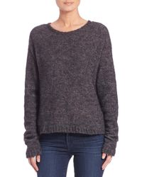Faith Connexion - Gray Boxy Stretch-alpaca Sweater - Lyst