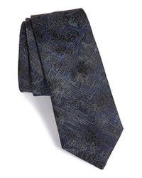 Lanvin - Blue Jacquard Silk Tie for Men - Lyst