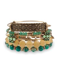 ALEX AND ANI - Green Sideshow Bangles Set Of 5 - Lyst