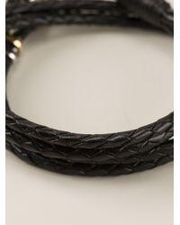 Paul Smith - Black Woven Bracelet for Men - Lyst