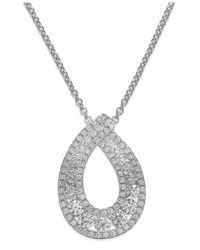 Arabella | Metallic Swarovski Zirconia Pendant Necklace In Sterling Silver (1-1/4 Ct. T.w.) | Lyst