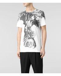 AllSaints - Natural Grateful Crew T-shirt for Men - Lyst