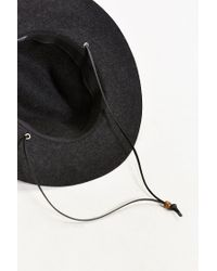 Coal Black Lee Raw Edge Web Fedora for men