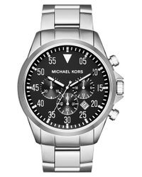 MICHAEL Michael Kors | Metallic Michael Kors 'gage' Chronograph Bracelet Watch for Men | Lyst