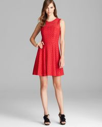 Nanette Lepore Red Dress Rendezvous Lace and Embroidery Fool For Love