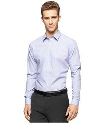 Calvin Klein - Purple Cool Tech Stripe Long-sleeve Shirt for Men - Lyst