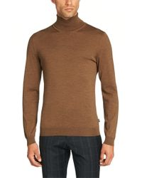 BOSS Natural Slim Fit Polo Neck Sweater In Pure New Wool: 'musso-d' for men